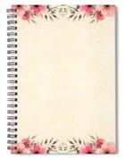 Flower Print Spiral Notebook