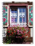 Flowered Window - 6 Spiral Notebook
