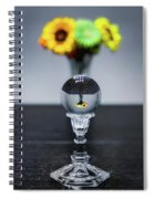 Flowers And Crystal Ball Spiral Notebook