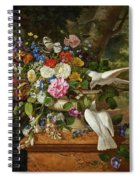 Flowers In A Vase With Two Doves Spiral Notebook
