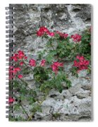 Flowers On Stone Spiral Notebook