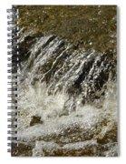 Flowing Water Over Rocks Spiral Notebook