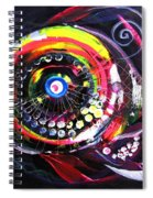 Fluorescent Fish And Friend Spiral Notebook