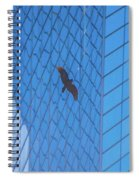Flying Abstract Spiral Notebook