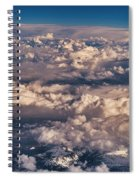 Flying Over The Rocky Mountains Spiral Notebook