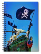 Flying The Pirates Colors Spiral Notebook