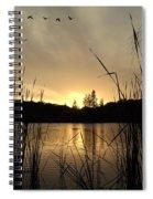 Flying Through A Sunset Spiral Notebook