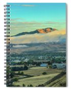Fog Over Squaw Butte Spiral Notebook