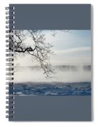 Fog Over The River Spiral Notebook