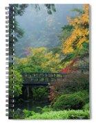 Footbridge In Japanese Garden Spiral Notebook