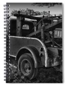 Ford F4 Tow The Truck Business End Black And White Spiral Notebook