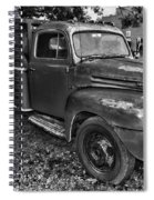 Ford F4 Tow The Truck Hook And Book Black And White Spiral Notebook