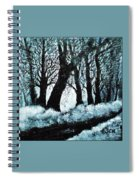 Forest Misty Dawn In Late Fall Spiral Notebook