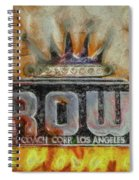 Forged In Fire - Crown - Oil Spiral Notebook