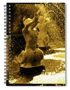 Forsyth Park Tritons In A Cascade Of Gold Spiral Notebook