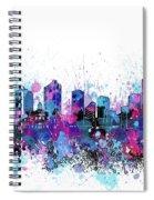 Fort Worth Skyline Color Splatter Spiral Notebook