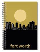 Fort Worth Skyline Minimalism Yellow Spiral Notebook