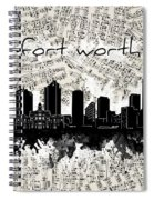Fort Worth Skyline Music Sheet Spiral Notebook
