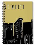 Fort Worth Skyline Panorama Yellow Spiral Notebook