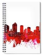 Fort Worth Skyline Red Spiral Notebook