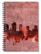 Fort Worth Skyline Vintage Red Spiral Notebook