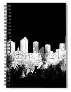 Fort Worth Skyline Watercolor Black And White 2 Spiral Notebook