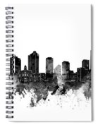 Fort Worth Skyline Watercolor Black And White Spiral Notebook