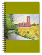 Fountains Abbey In Yorkshire Through Japanese Eyes Spiral Notebook