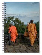 Four Monks And A Phone. Spiral Notebook