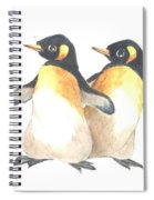 Four Penguins Spiral Notebook
