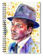 Frank Sinatra Singing Spiral Notebook