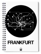 Frankfurt Black Subway Map Spiral Notebook