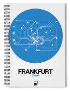 Frankfurt Blue Subway Map Spiral Notebook