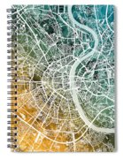 Frankfurt Germany City Map Spiral Notebook