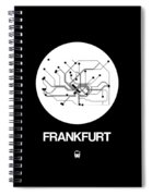 Frankfurt White Subway Map Spiral Notebook