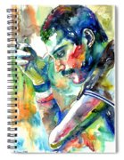 Freddie Mercury With Cigarette Spiral Notebook