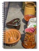 French Flea Market Pottery Spiral Notebook