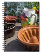 French Pottery Spiral Notebook