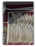 French Silver Spiral Notebook