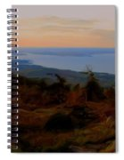 Frenchman's Bay From Cadillac Mountain Digital Photo Art Spiral Notebook