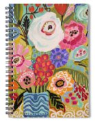 Fresh Flowers In Vase II    Spiral Notebook