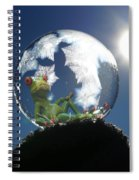Frog Relaxing In A Bubble Spiral Notebook