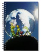 Frogs In A Bubble Spiral Notebook