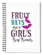 Fruit Bat Conservation Halloween Flying Fox Women Light Spiral Notebook
