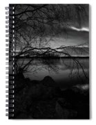 Full Moon Behind The Clouds Spiral Notebook