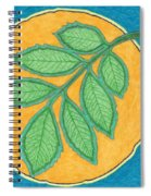 Full Moon, Leaves Spiral Notebook