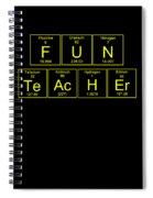 Fun Teacher Teachers Assistant Design Yellow Spiral Notebook