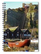 Funicular Railway East Cliff Hastings Spiral Notebook
