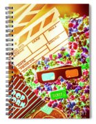 Funky Film Festival Spiral Notebook