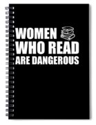 Funny Book Lover Design Who Likes Books Spiral Notebook